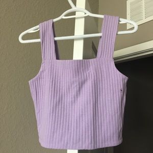 American Eagle purple cropped top